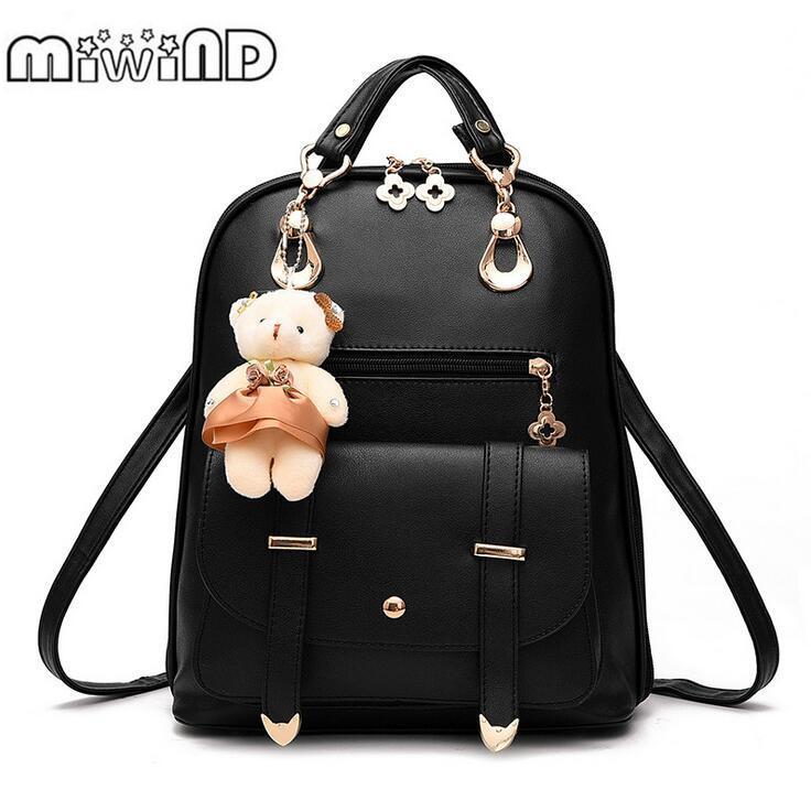 31e640572b Wholesale MIWIND Fashion Women PU Backpack For Girls 2016 Backpacks Black Backpacks  Female Fashion Girls Bags Ladies Black Backpack Small Backpack Backpack ...