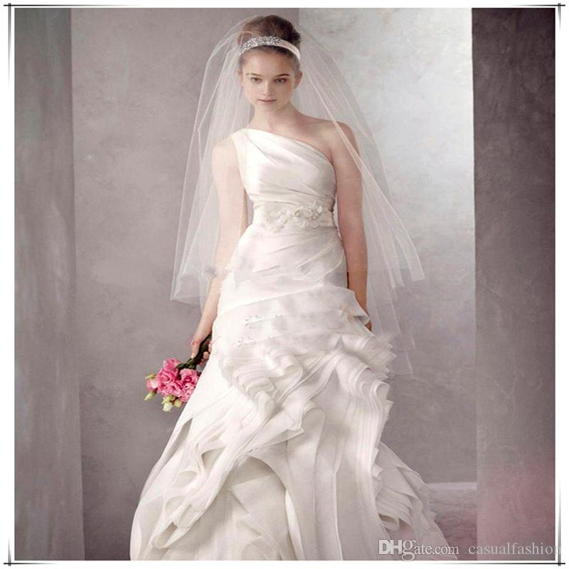 Wedding Bridal Handmade Multiple layers First 0.8CM Second 1.2M Beaded Crescent edge Bridal Accessories Veil With Comb