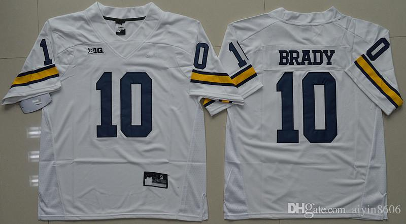 tom brady michigan jersey white
