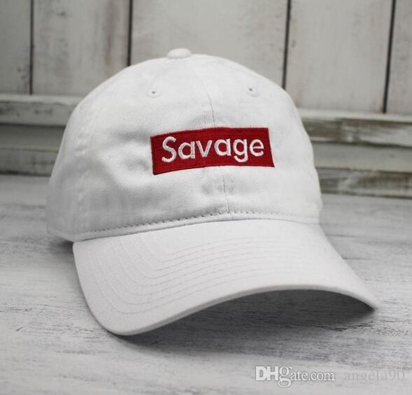 40a94a093ab SAVAGE CUSTOM WHITE UNSTRUCTURED BASEBALL DAD CAP Chance 3 HAT Kanye West  Drake Ovo Embroidered 6 Panel Cap Curved Bill 100% Cotton Ball Hat Baseball  Caps ...