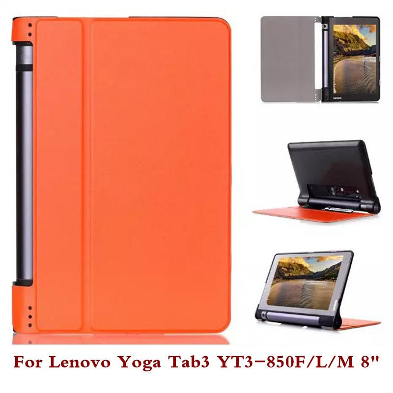 sports shoes 37635 0ff2f Wholesale-Pu Leather Tablet Case Pc Back Cover For Lenovo Yoga Tab3  YT3-850F YT3-850M YT3-850L 8 Stylus As Gift