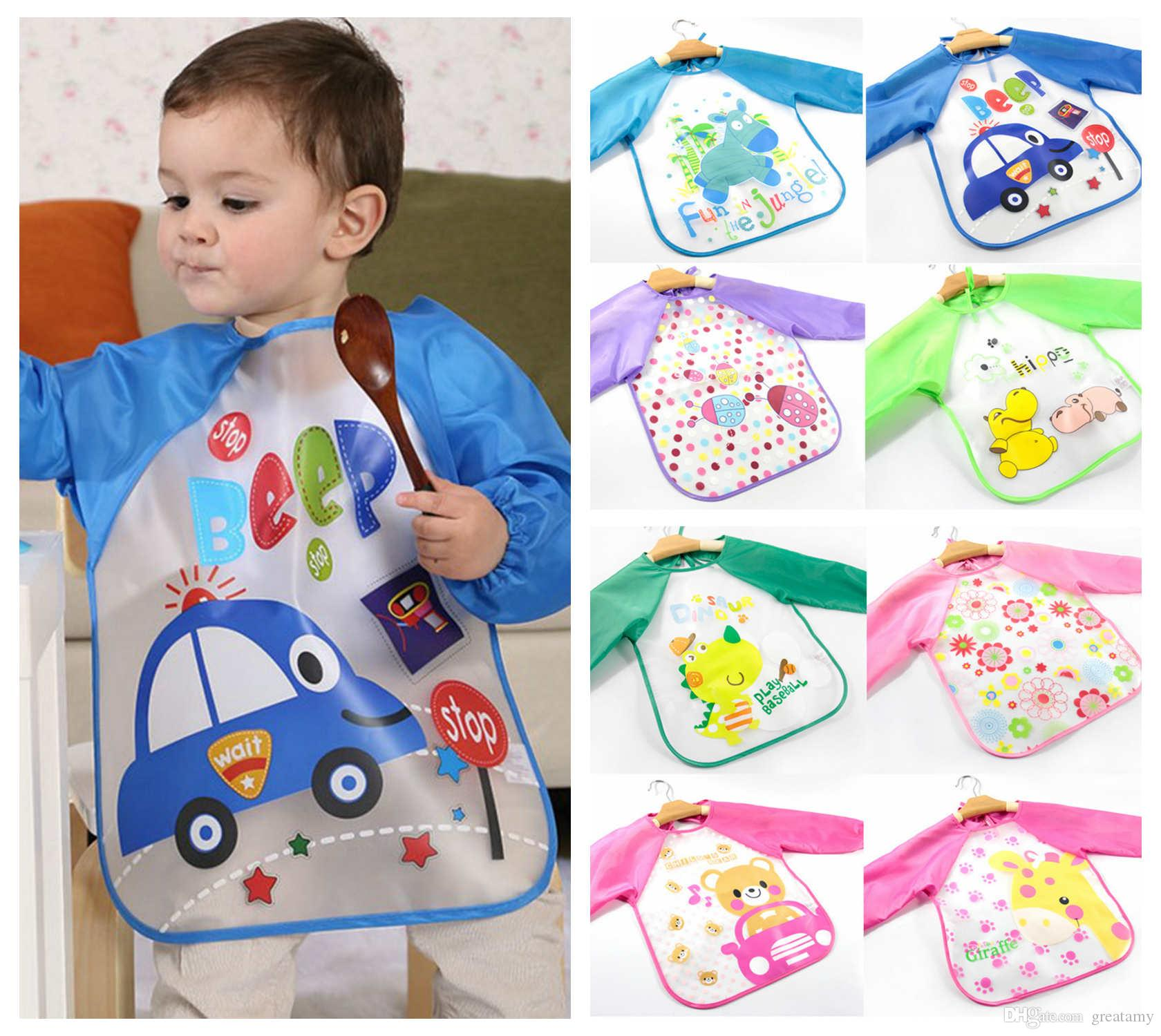 2018 Children Paint Waterproof Clothing Kids Toddler Long Sleeved