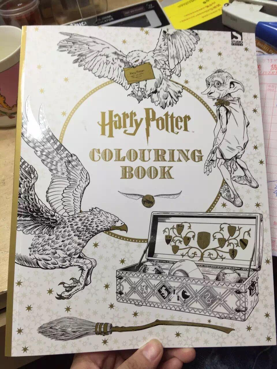 96pages harry potter coloring book books for children adult secret garden series kill time painting drawing books free coloring books kids coloring book - Harry Potter Coloring Books