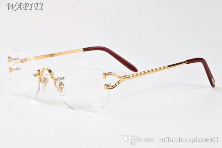 9e59d7a087d40b Großhandel Mens Designer Sonnenbrille Brille Vintage Sonnenbrille Damen  Oversize Randlose Sonnenbrille Marke Mode Luxus Fahren Angeln Brillen Von  ...