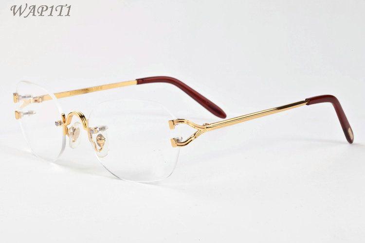 461e4b650ff Mens Designer Sunglasses Glasses Vintage Shades Ladies Oversize Rimless  Sunglasses Brand Fashion Luxury Driving Fishing Eyeglasses Cheap Eyeglasses  ...