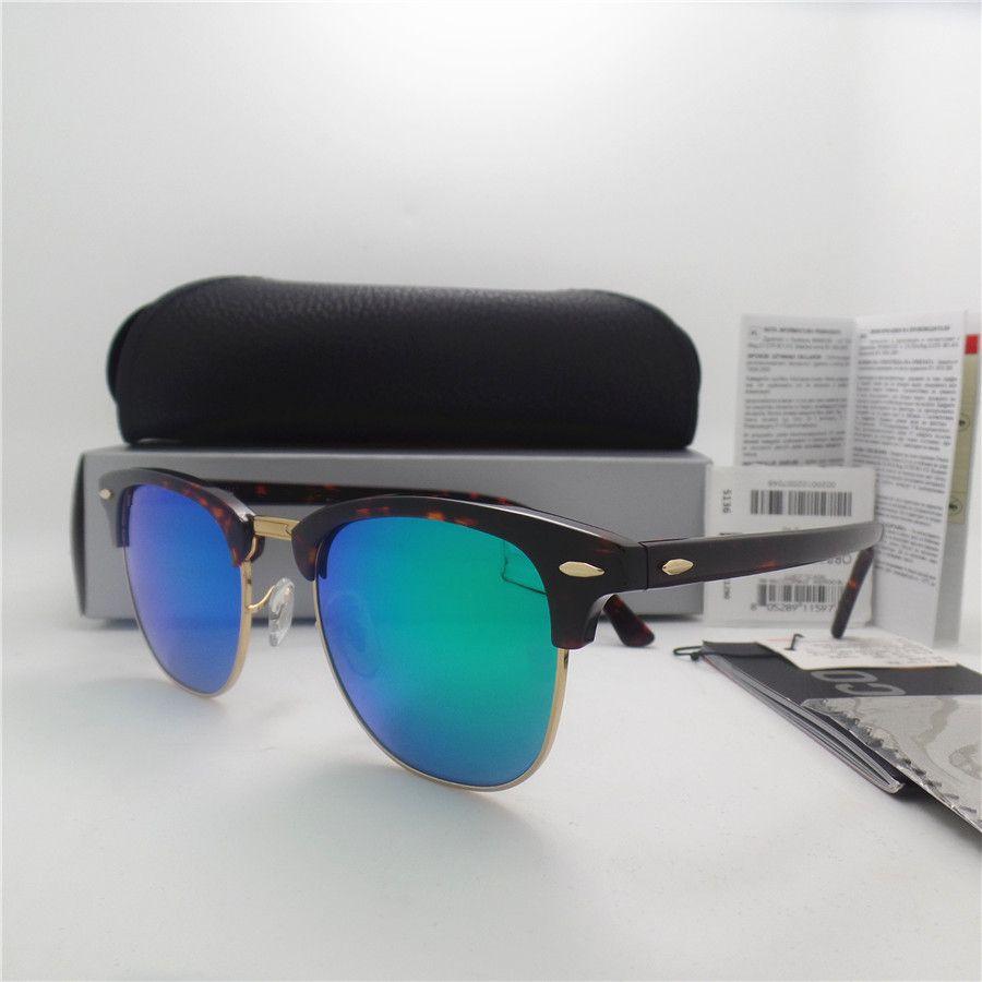 AAAA+ quality Glass lens 51MM Brand Designer Fashion Men Women Plank frame Coating Sunglasses Sport Vintage Sun glasses With box