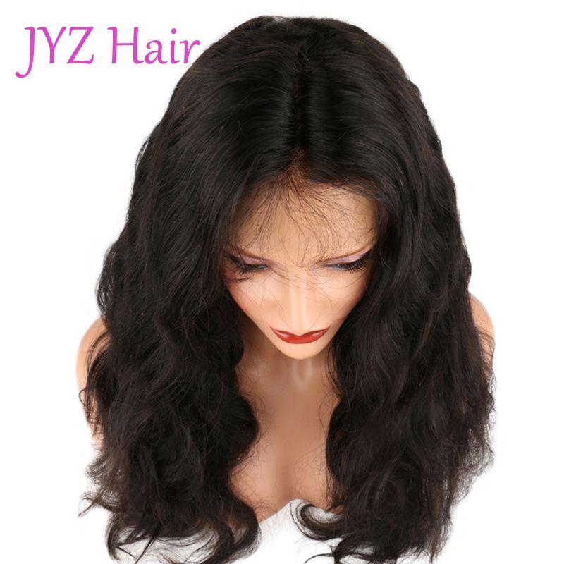 Naturel Couleur Full Lace Perruques Corps Vague Cheveux Humains Brésiliens Péruvien Indonésien Corps Vague Dentelle Avant Perruques Cheveux Humains Avec Des Cheveux De Bébé
