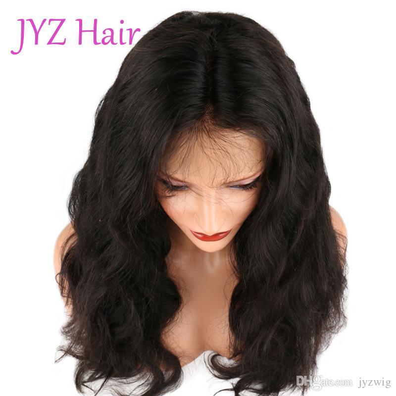 Parrucche piene del merletto dei capelli umani dell'onda del corpo dell'onda del corpo dell'onda del merletto del brasiliano peruviano brasiliano di colore pieno naturale dei capelli con i capelli del bambino