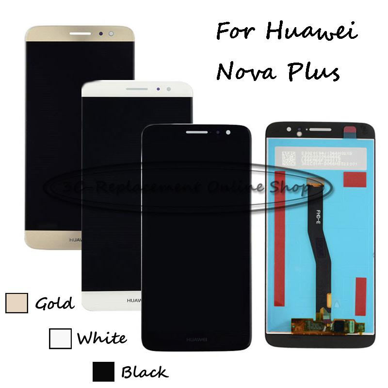 Commercio all'ingrosso- Nero / Bianco / Oro Per Huawei Nova Plus TD-LTE MLA-L11 MLA-L02 Display LCD MLA-L12 + Touch Screen Digitizer Assembly Replacement