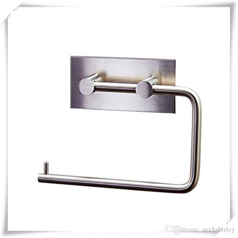 304 Stainless Steel Toilet Paper Holders Storage Bathroom Kitchen Paper Towel Dispenser Tissue Roll Hanger Wall Mount Brushed Free DHL