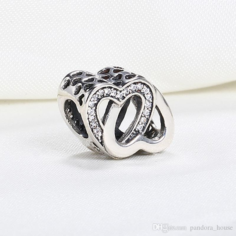 87d59e864 ... buy real 925 sterling silver not plated entwined love openwork charm  european charms beads fit pandora
