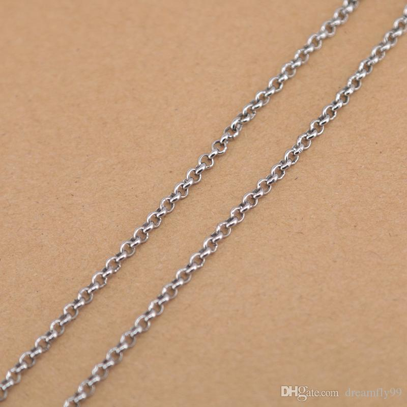 """rolo Chain 20"""" 24'' 30"""" 316L stainless steel 2.5mm width necklace chain for women men pendant"""
