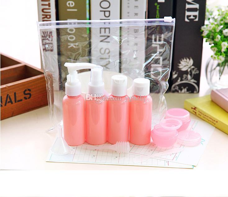 Großhandelsverpackungsflasche, Reise-Satz eingestellt, Plastikspray-Emulsionsshampoo-Sahnekosmetikflasche, Farbe 3, freies Verschiffen