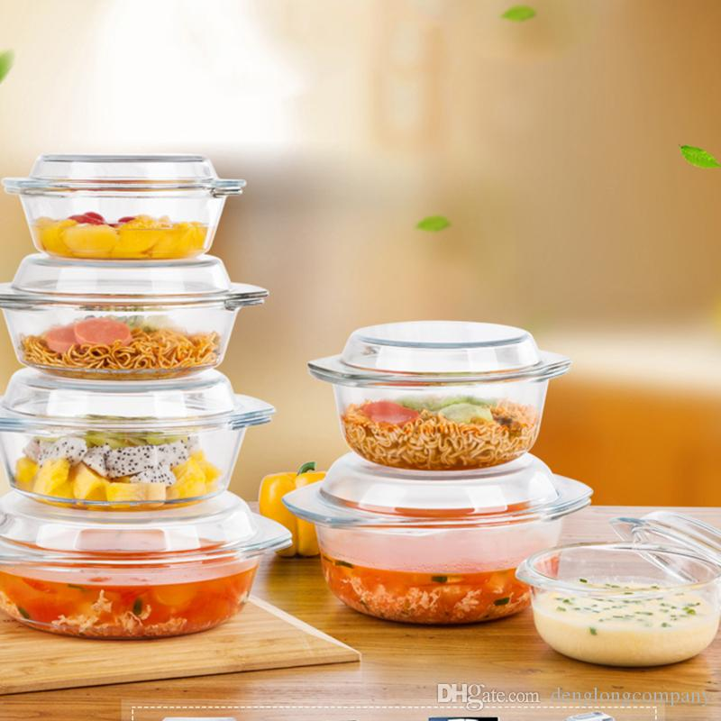 Hot Sale Heat Resisting Glass Tempered Glass Food Container