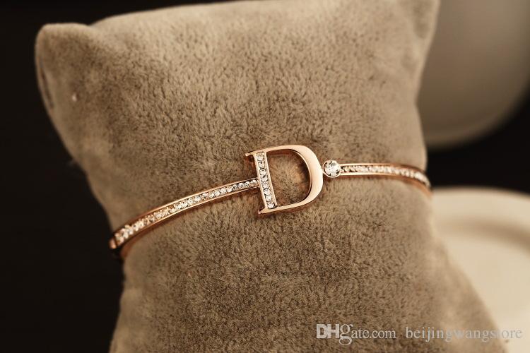 Bracelet de bracelet au détail pour femmes 18K plaqué or zircon chariot bracelet bracelet bracelets pour la fête coréenne bijoux