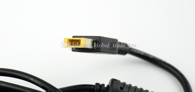 Lenovoのためのピンが付いている高品質のラップトップACアダプター20V 4.5A 90W黄色の長方形の先端