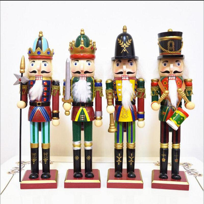 30cm Nutcracker Puppet Soldiers Home Decorations for Christmas Creative Ornaments and Feative and Parrty Christmas gift