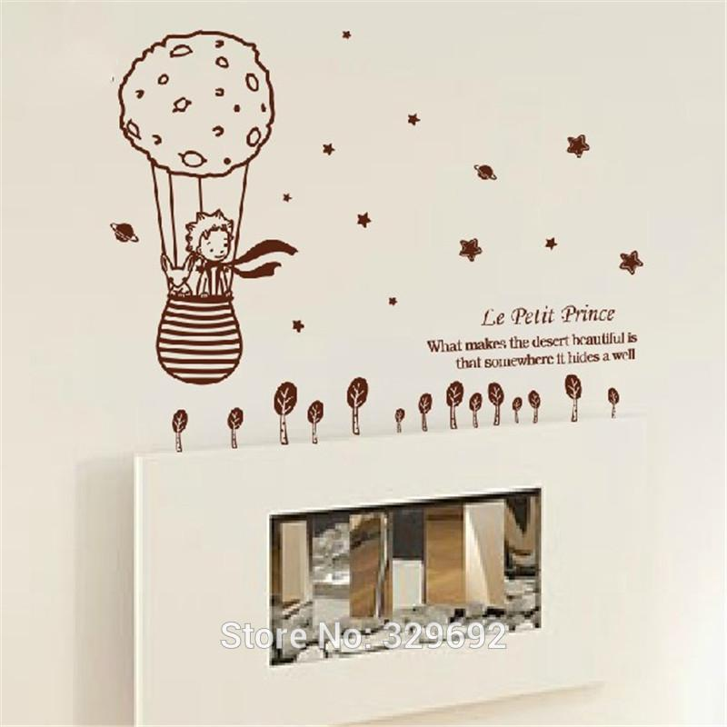 Eco Friendly Big Size 112.5X 98Cm For Kids Rooms Little Prince And The Fox Removable Wall Stickers Home Decoration Tx -506
