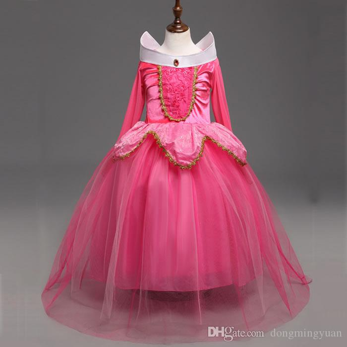 Fantasy Aurora Sleeping Beauty Princess Dress For Baby Girl Costume Cosplay Clothes New Year Christmas Children Kid Lace Rapunzel Dresses