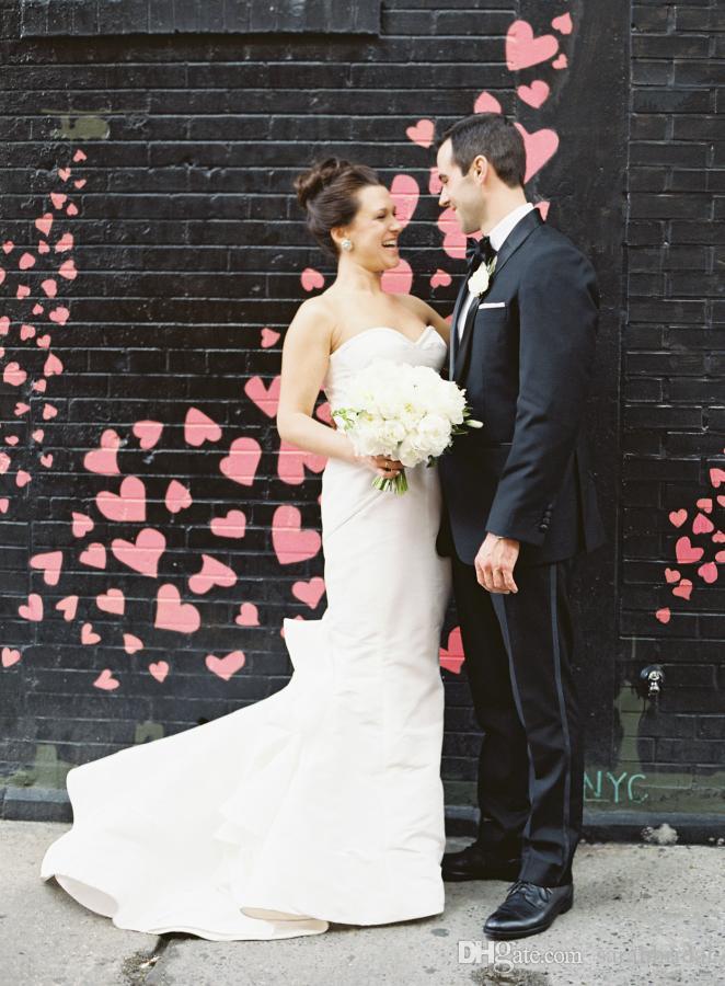 2019 сексуальный элегантный сексуальный спинки простое русалка свадебное платье атласная милая фея плюс размер свадебное платье новые свадебные платья
