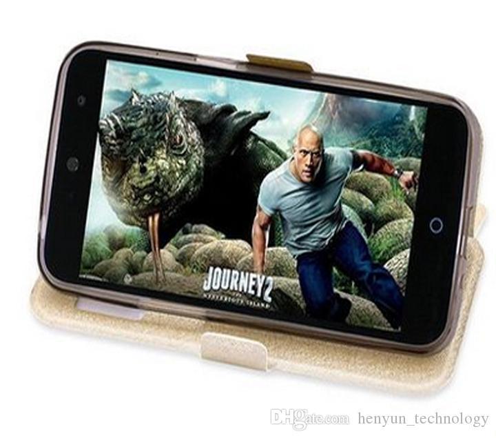 Lüks İnce Kapak Koruyucu Görünüm Penceresi Cep Telefonu Kılıfı ZTE Blade V7 Lite 6 Renkler Için standı