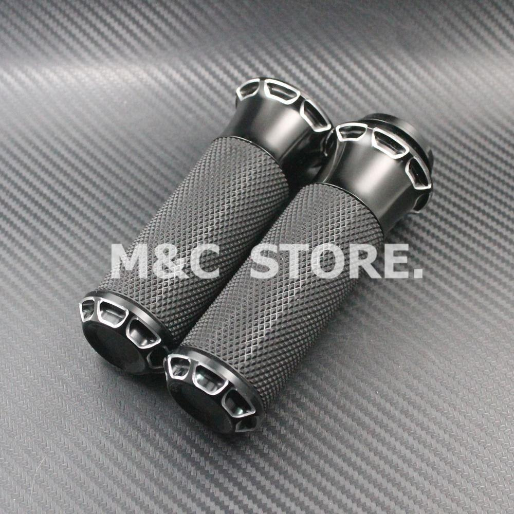 Frames & Fittings 2017 New Motorcycle Aluminum Handlebar Hand Grips For Harley Electronic Model Motorcycles Handle Grips Silver Free Shippin Online Discount Handlebar