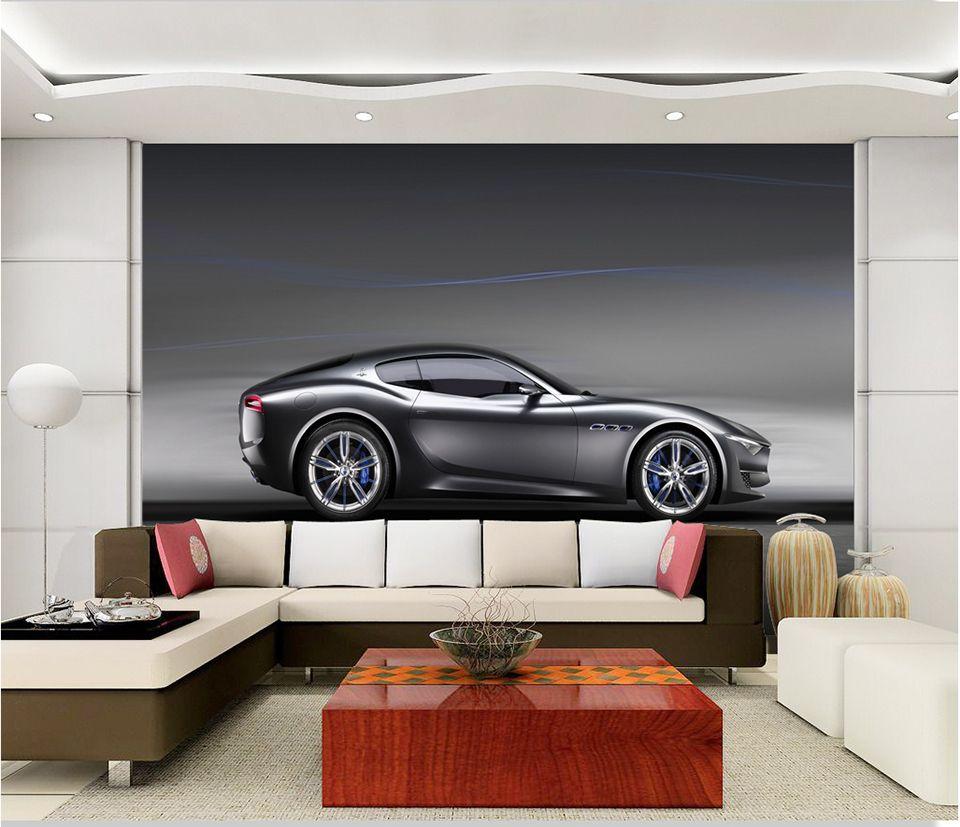 Custom Photo Wallpaper 3D Brick Wall Murals Car Black Robot Broken Wall Wallpaper For Kids Room KTV Bar Cafe Background Decor