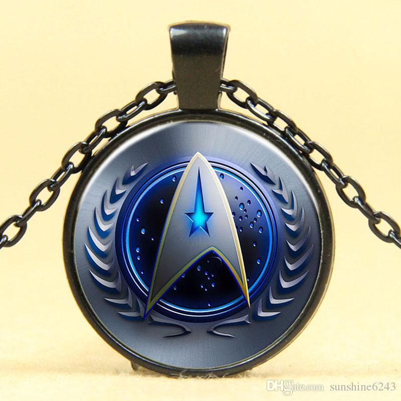 Toptan Cam Kubbe Cabochon 25mm Star Trek Kolye Cam Cabochon Kubbe Kolye Retro kolye takı ücretsiz kargo