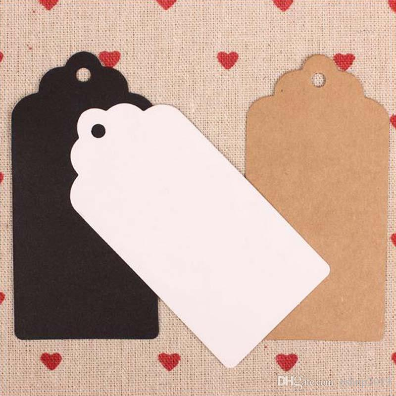 Kraft Paper Tags Head Label Luggage Wedding Party Note DIY Blank Price Hang tag Kraft Gift Hang Tag