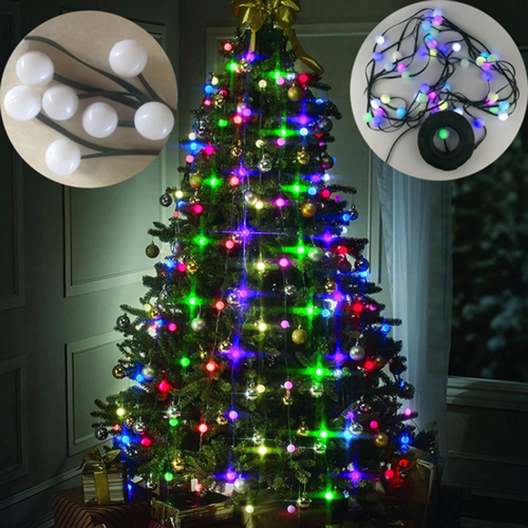 2018 Merry Christmas Tree 64 Lights Decor Hanging Tree Led Multi ...