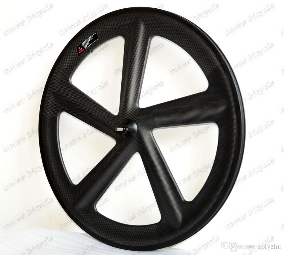 F700c road bike five-spoke carbon wheels 56mm clincher fixed gear wheel high quality clincher for Time Trial Bike Wheel