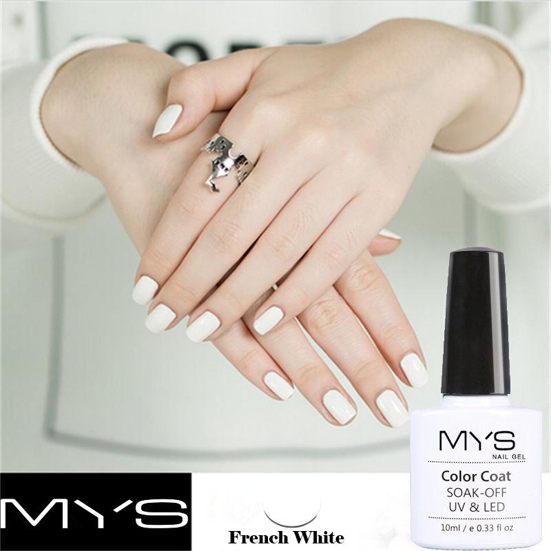 Wholesale Mys Black White French Manicure Set Gel Nail Polish 10ml ...