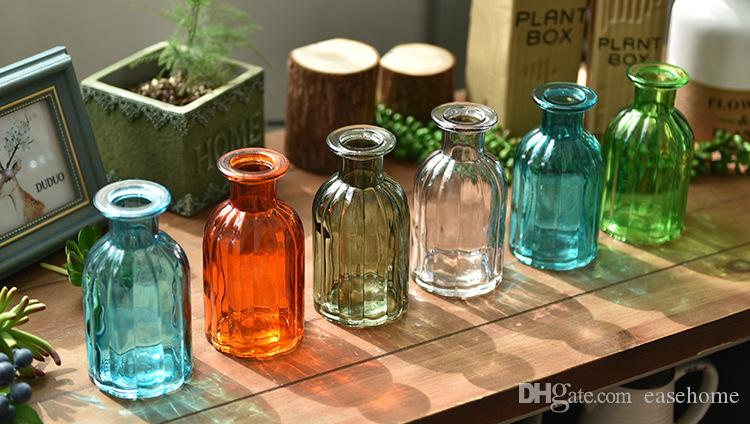 New simple style clear glass vases mini size bottle for home wedding decoration in es