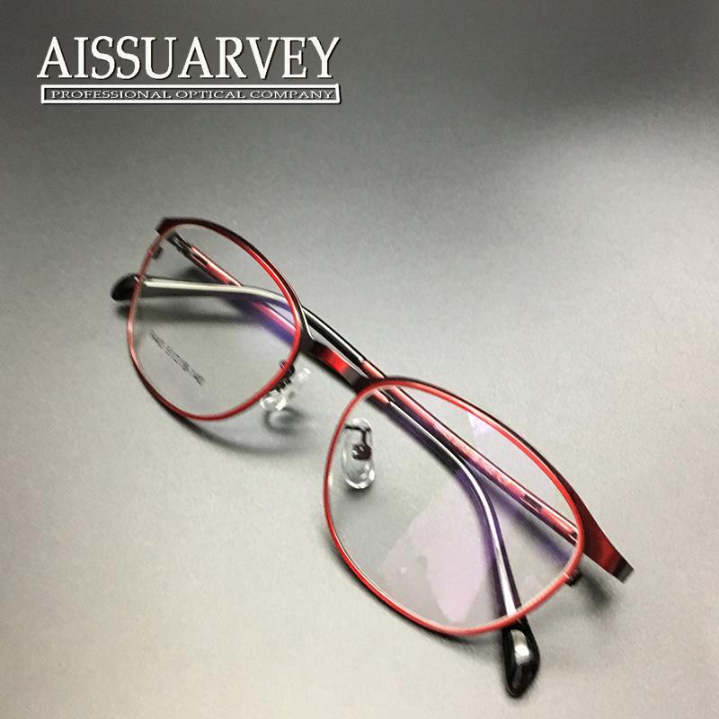 Großhandel Frauen Brille Rahmen Optische Runde Metall Licht Brillen ...
