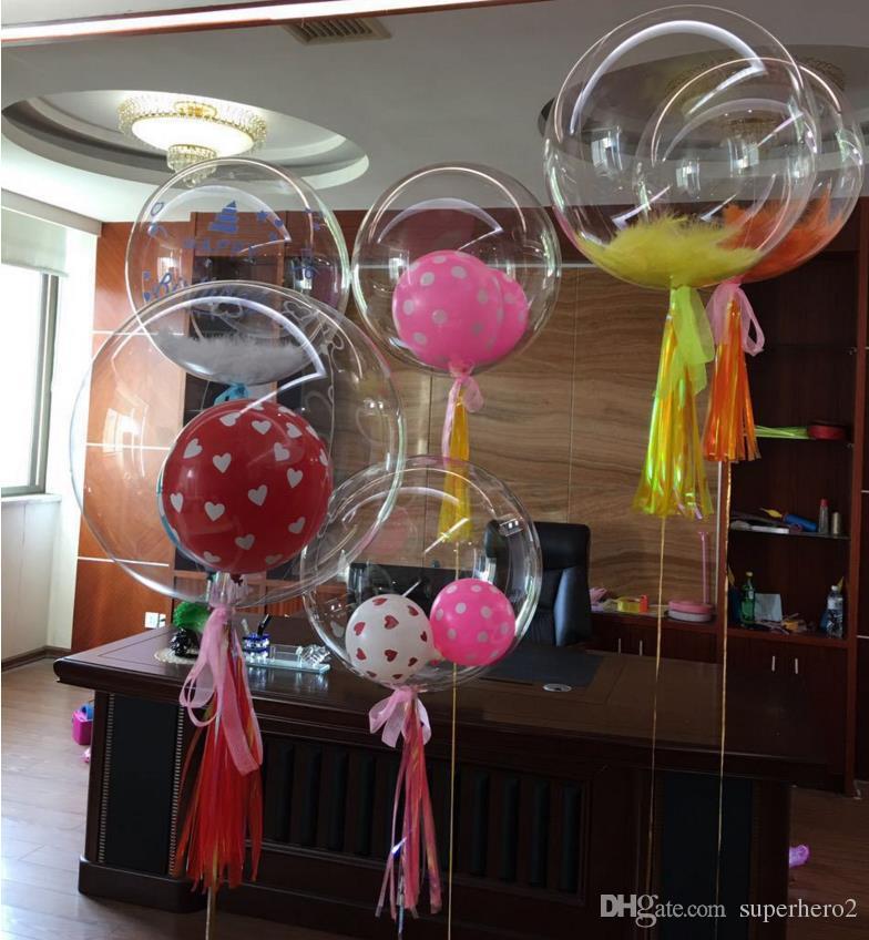 36 بوصة بوبو فقاعة البالونات واضحة الزفاف عيد الميلاد الأيل الدجاجة حزب ديكور بالونات شفافة احتفالية الأحداث ديكورات