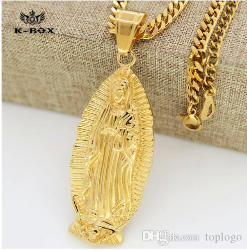 Wholesale 2018 gold small god holy mother virgin mary charm pendant wholesale 2018 gold small god holy mother virgin mary charm pendant yellow gold plated 275 cuban curb chain necklace for men and women mens pendant aloadofball Choice Image