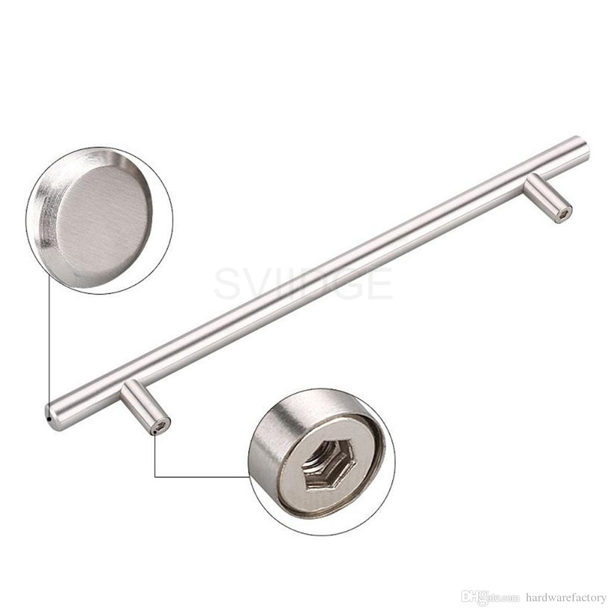 Stainless Steel Cabinet Handle Pull Knob Euro Style Bar Hollow Handle Pull Knob Diameter 12mm with screw