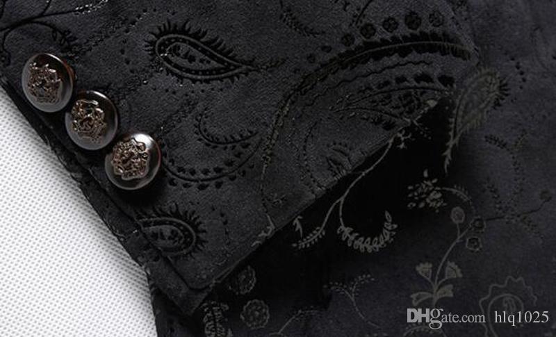 Men Paisley Floral Pattern Wedding Suit Jacket Slim Fit Stylish Costumes Stage Wear For Singer Mens Blazers Designs