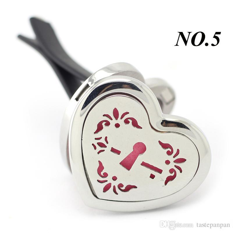 Nouvelle arrivée 30mm Coeur Forme Argent Magnétique Voiture Amorathérapie Diffuseur Médaillon 316 En Acier Inoxydable De Voiture Parfum Médaillons Bijoux