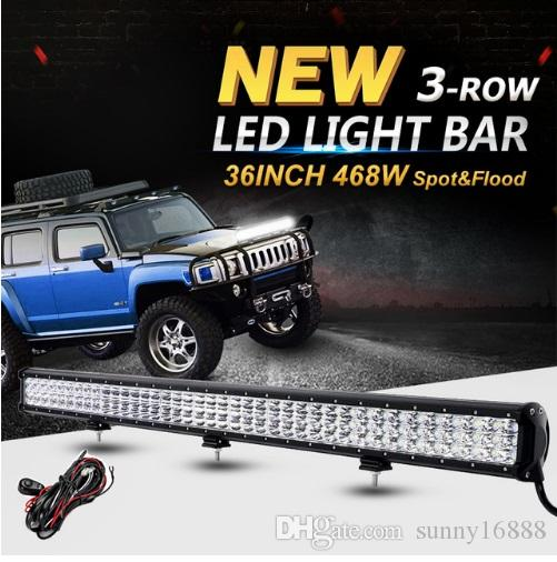 6d 3 row 36inch 468w led light bar offroad cree chips combo beam led 6d 3 row 36inch 468w led light bar offroad cree chips combo beam led work light bar 12v 24v truck suv 4wd pickup led bar blue led light bright led work aloadofball Gallery