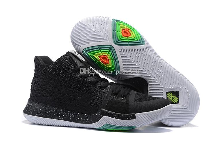 buy popular 73c3a eff19 2016 Christmas Kyrie 3 Black Ice Mens Basketball Shoes Men Sports Sneakers  Cheap Kyrie Irving Shoes ...