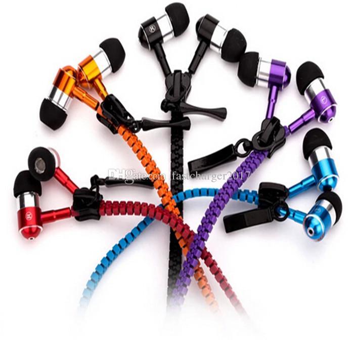 Zipper гарнитура для наушников 3,5 мм Jack Bass наушники-вкладыши Zip наушники для Samsung Phone PC MID Ipod MP3 MP4 плеер с пакетом