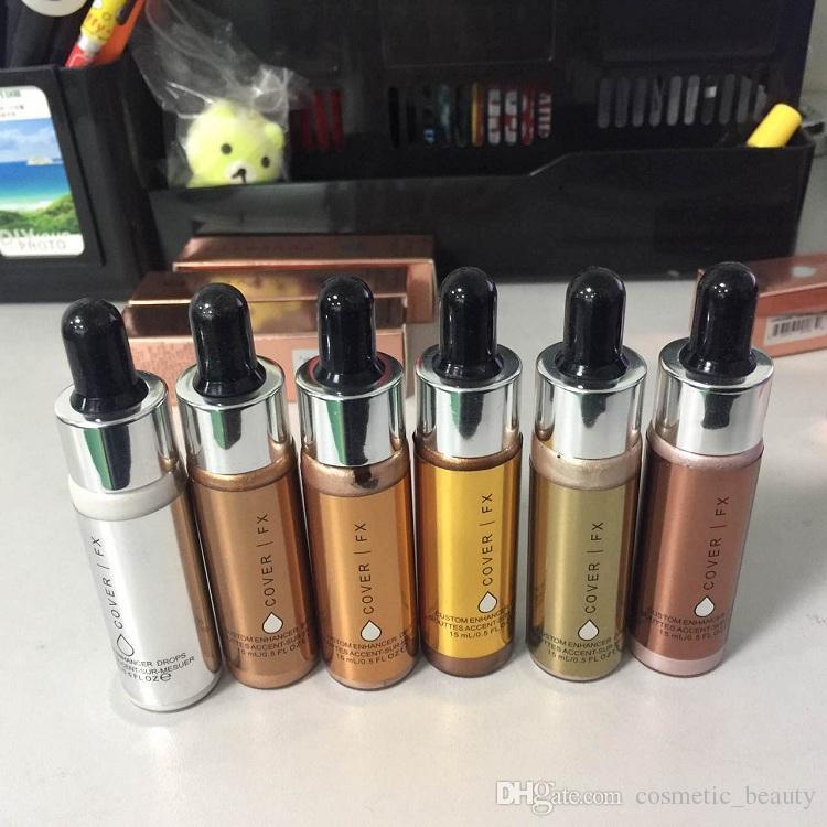 2017 حار! غطاء FX مخصص محسن قطرات الوجه تمييز مسحوق ماكياج توهج 6 لون 15ML السائل تمييز مستحضرات التجميل