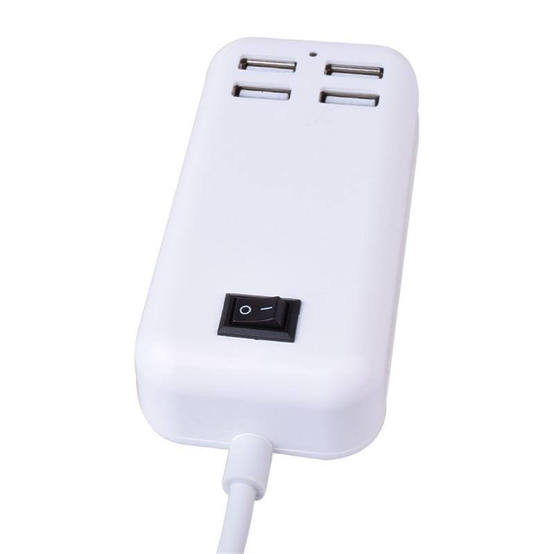 Alimentatore USB Caricatore da muro USB da 15 W 4 Porte Caricatore universale Caricabatterie USB da tavolo con ricarica USB Micro Sync Dock OTH313