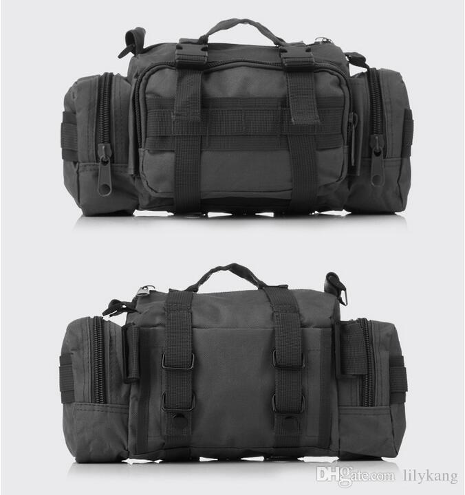 Multi-function sports Bags brown hiking backpacks Tactical Waist packs waist purse pouch running belt cycling waist bag