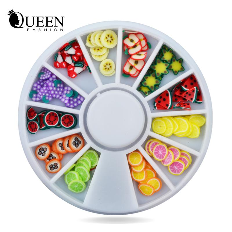 Diy Nail Art Wheel Decoration Fruit Slices 3d Polymer Clay Tiny Fimo ...