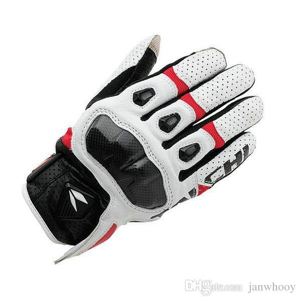 Guantes de moto de envío gratis RS Taichi RST410 Hombres de malla de cuero perforado de carreras Motocross Guantes de moto negro rojo blanco