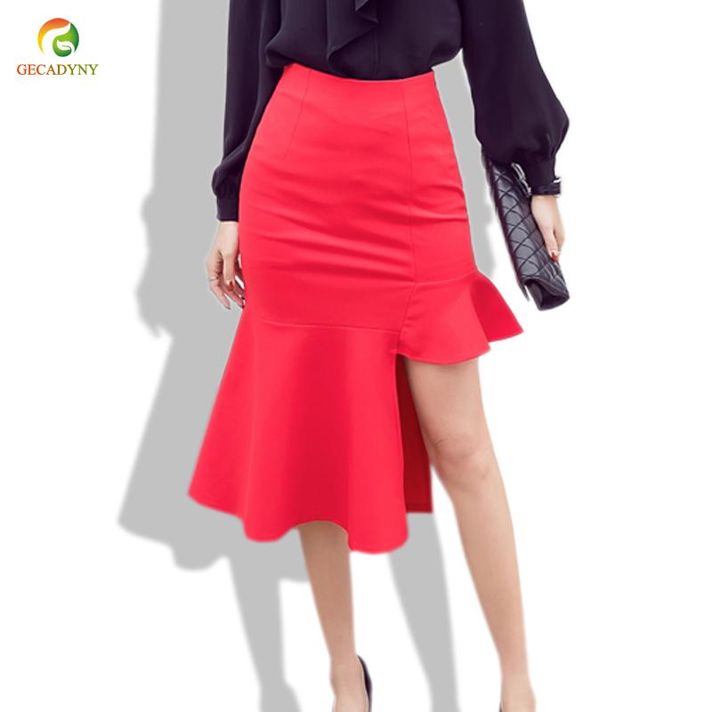 2017 Women Pencil Skirt Fashion Slim Bodycon Skirt Business Wear ...