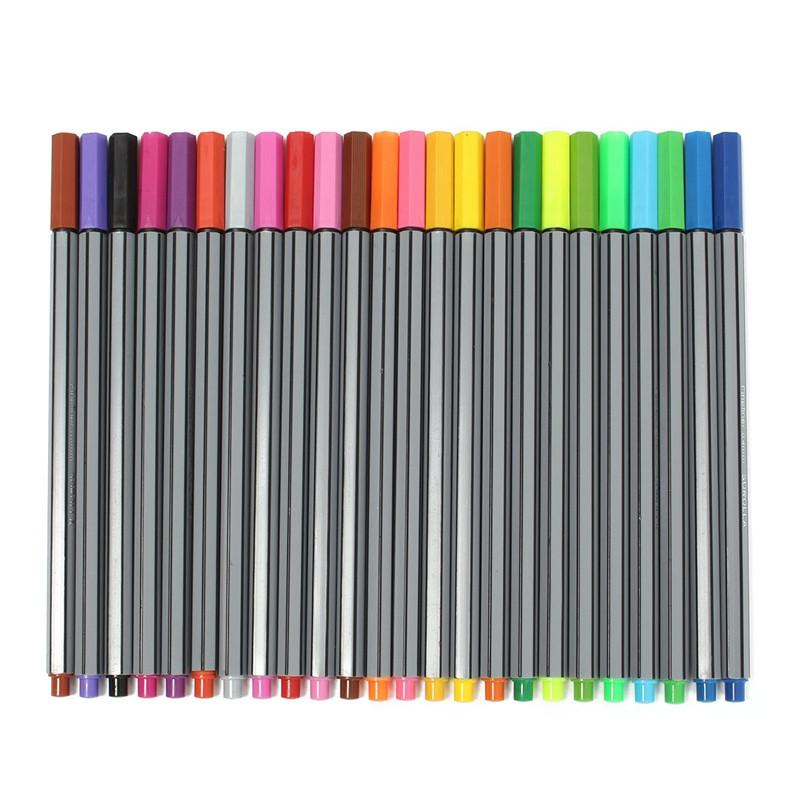 Color 0.4 mm Fiber Water Marker Pen Draw Liner Copic Finecolour Markers Sketch Drawing Art Painting Professional