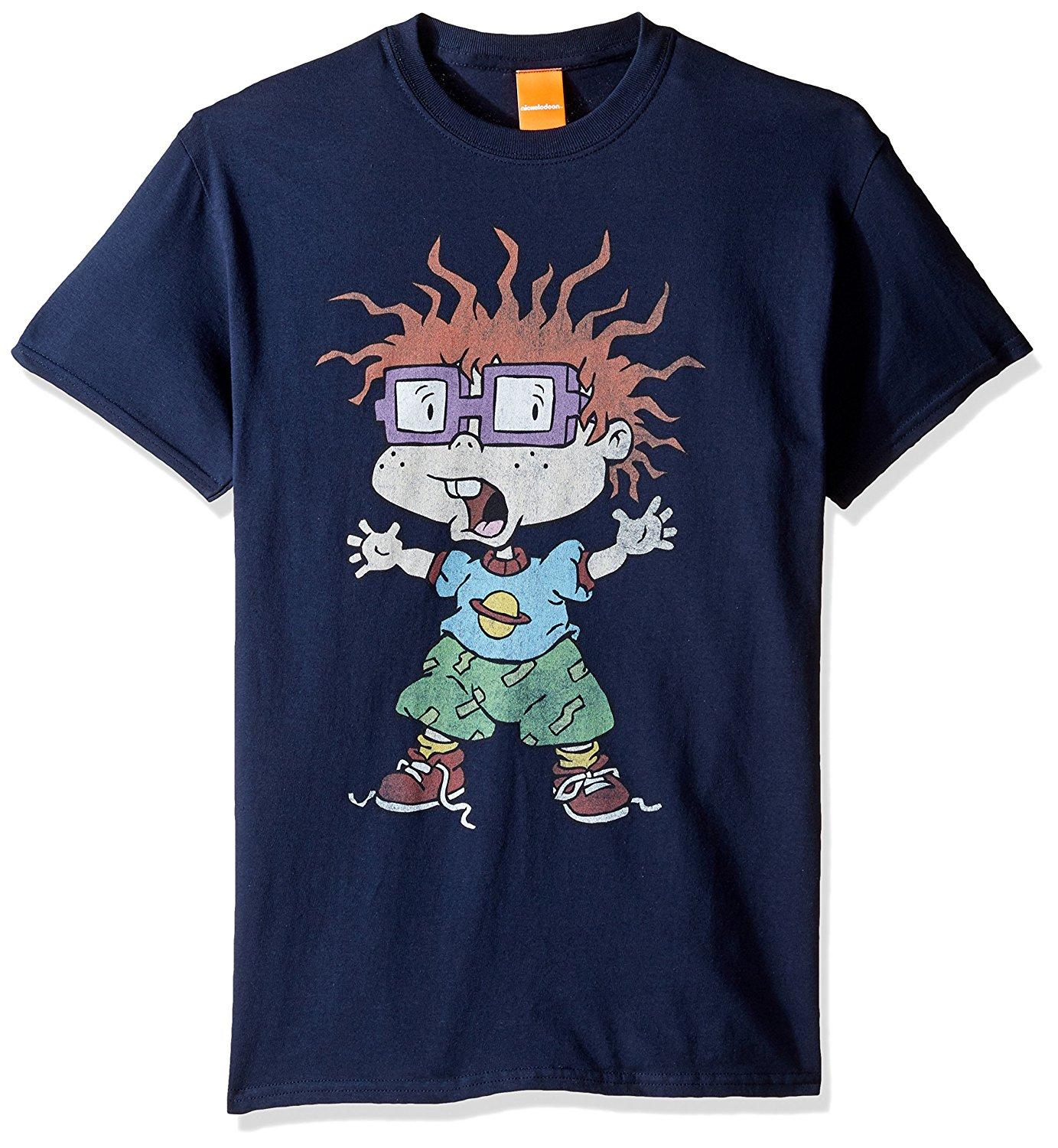 watch 043c9 ddc7d john wall jersey Nickelodeon Men s Rugrats Scared Chuckie T-Shirt Fashion  Men T-shirt